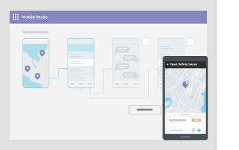 Illustration of the ease of developing mobile applications on the Now Platform