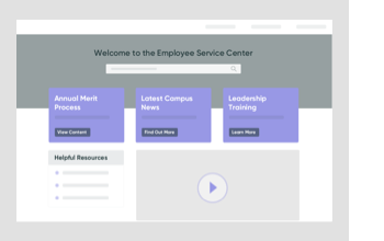 Illustration of an employee service dashboard using ServiceNow HR Service Delivery