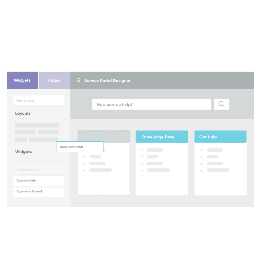 Easily create a service portal with pre-built widgets
